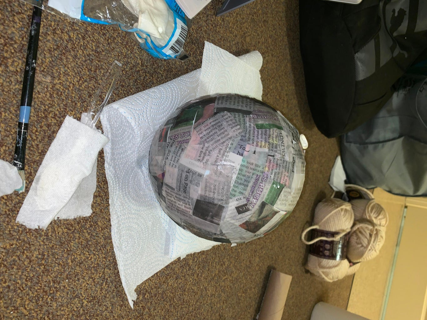 Cover Balloons With Newspaper