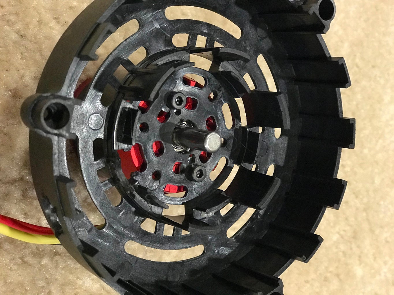 Attach RC Motor to Outer Shroud