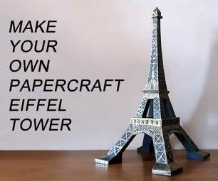 Eiffel Tower Papercraft Sculpture