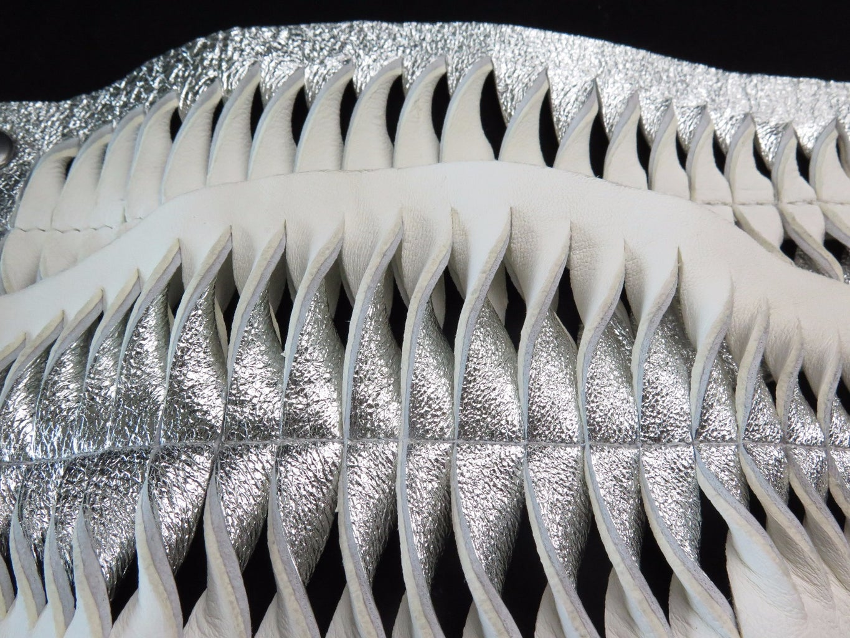 Leather Fish-Scale Cuffs
