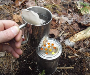 Recycled Tin Can Heater