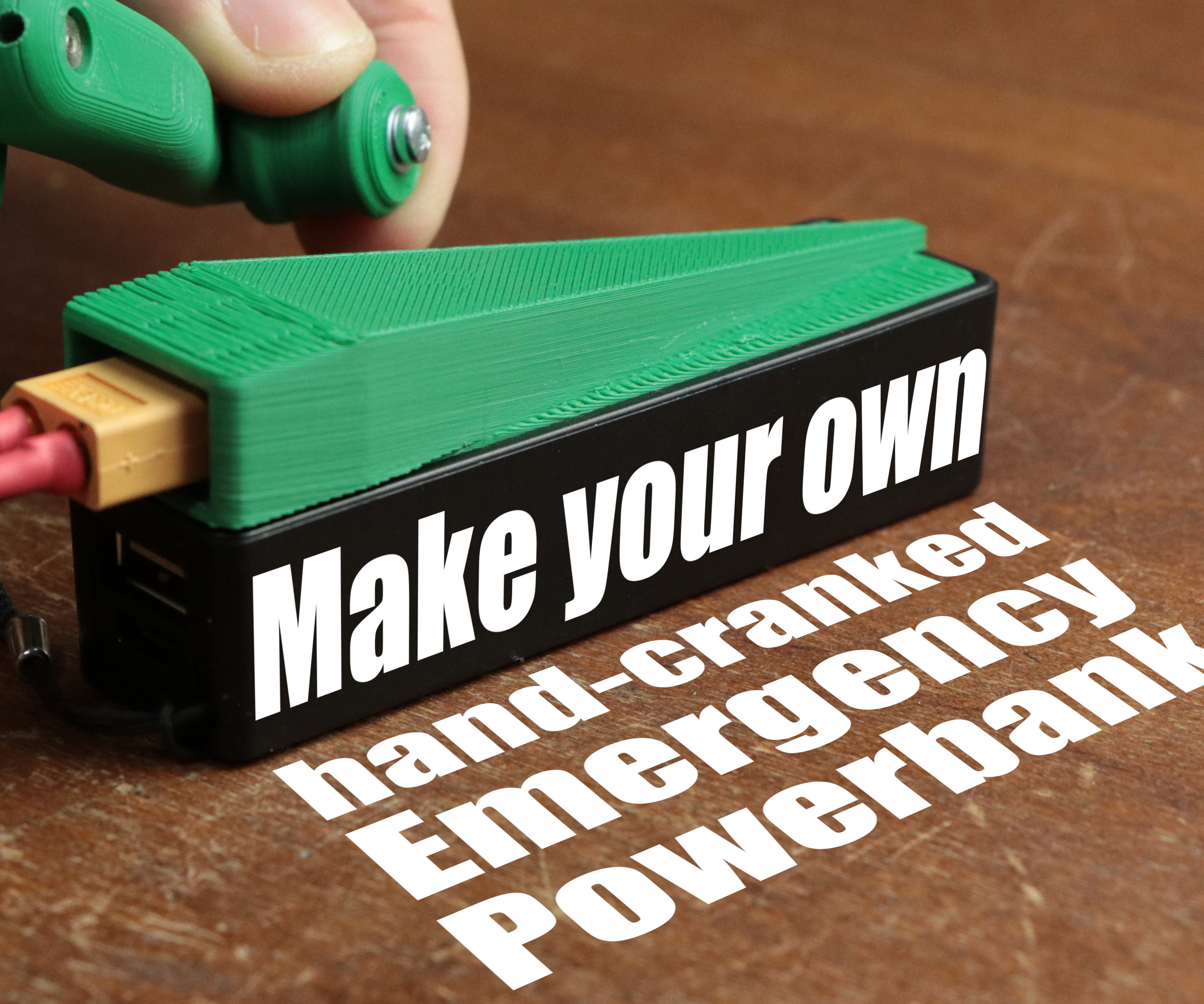 Make Your Own Hand-cranked Emergency Powerbank