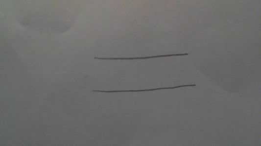 Step 3: Draw Another Straight Line, Right Above It