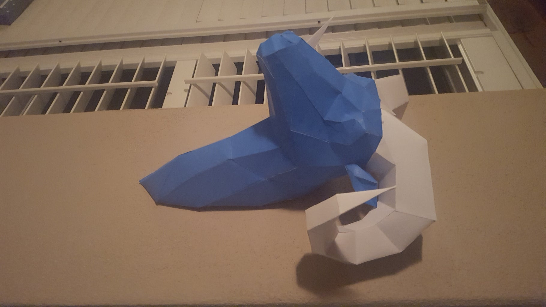 Papercraft Faceted Ram Template