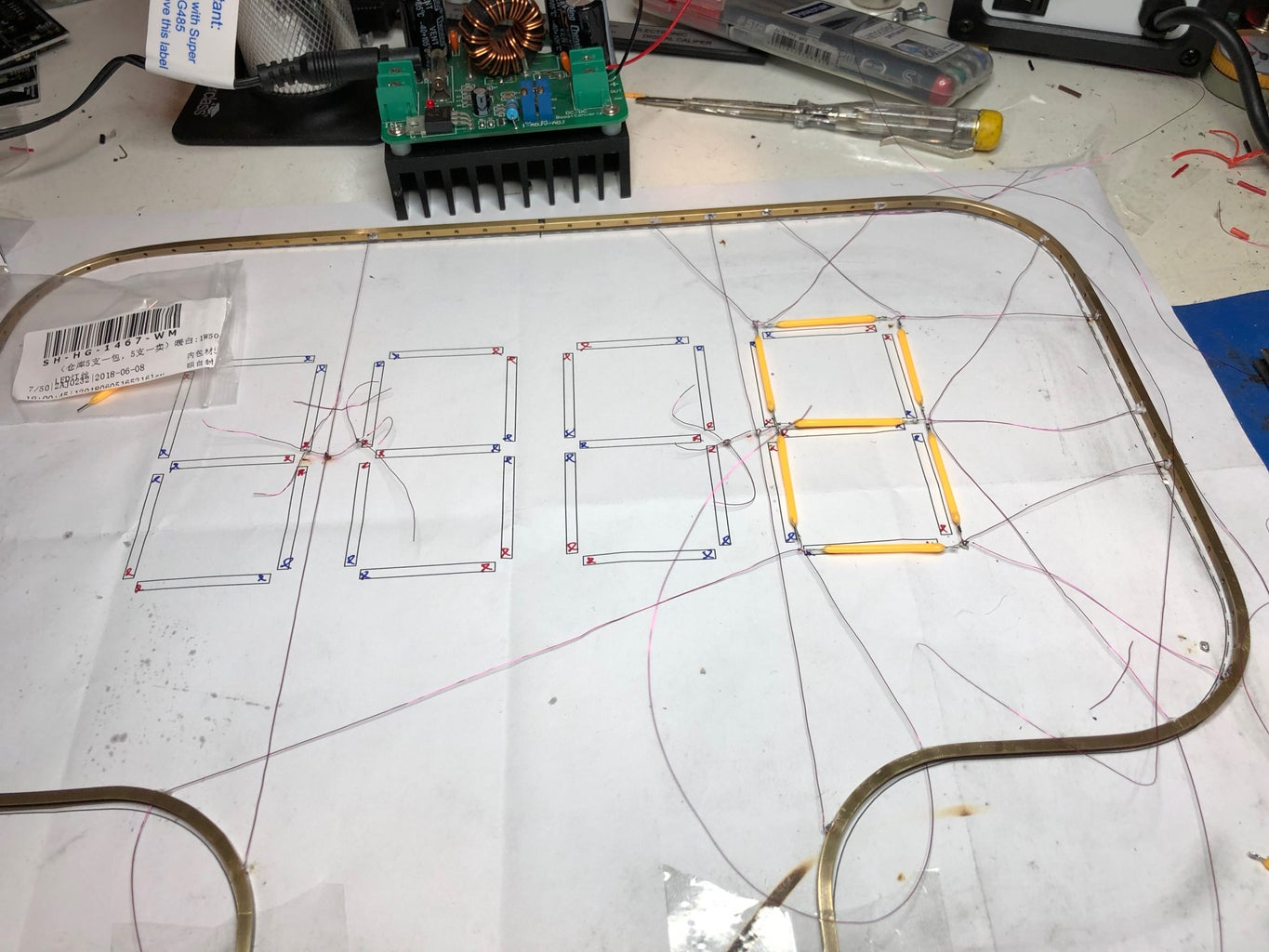 Wire in the LEDs.
