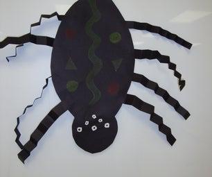 The Itsy Bitsy Spider: Paper Spider For Elementary School Children