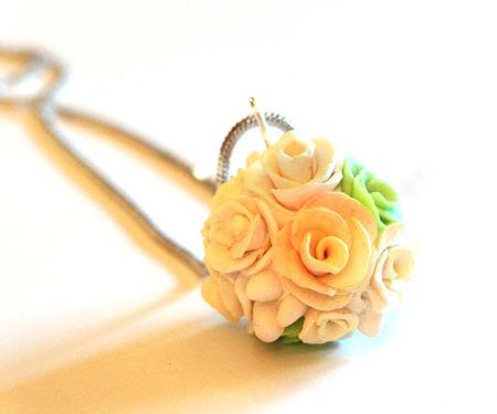 Polymer Clay Flower Ball Pendant