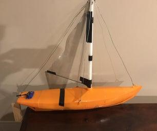 3D Printed RC Sailboat