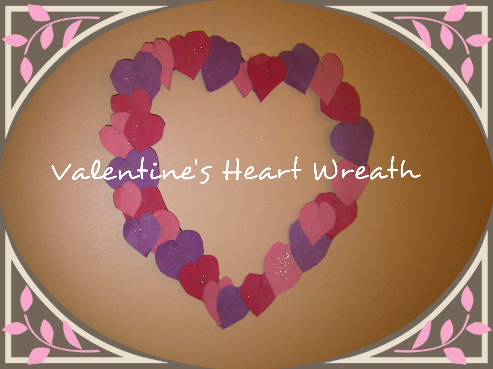 DIY Heart Shaped Valentine's Wreath