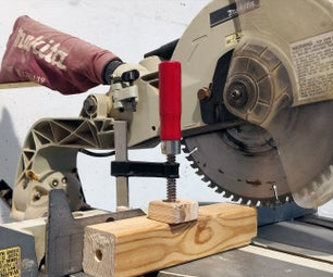 Simple Homemade Miter Saw Clamp - From Existing F Type Clamp | DIY