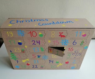 Advent Calendar From Cardboard