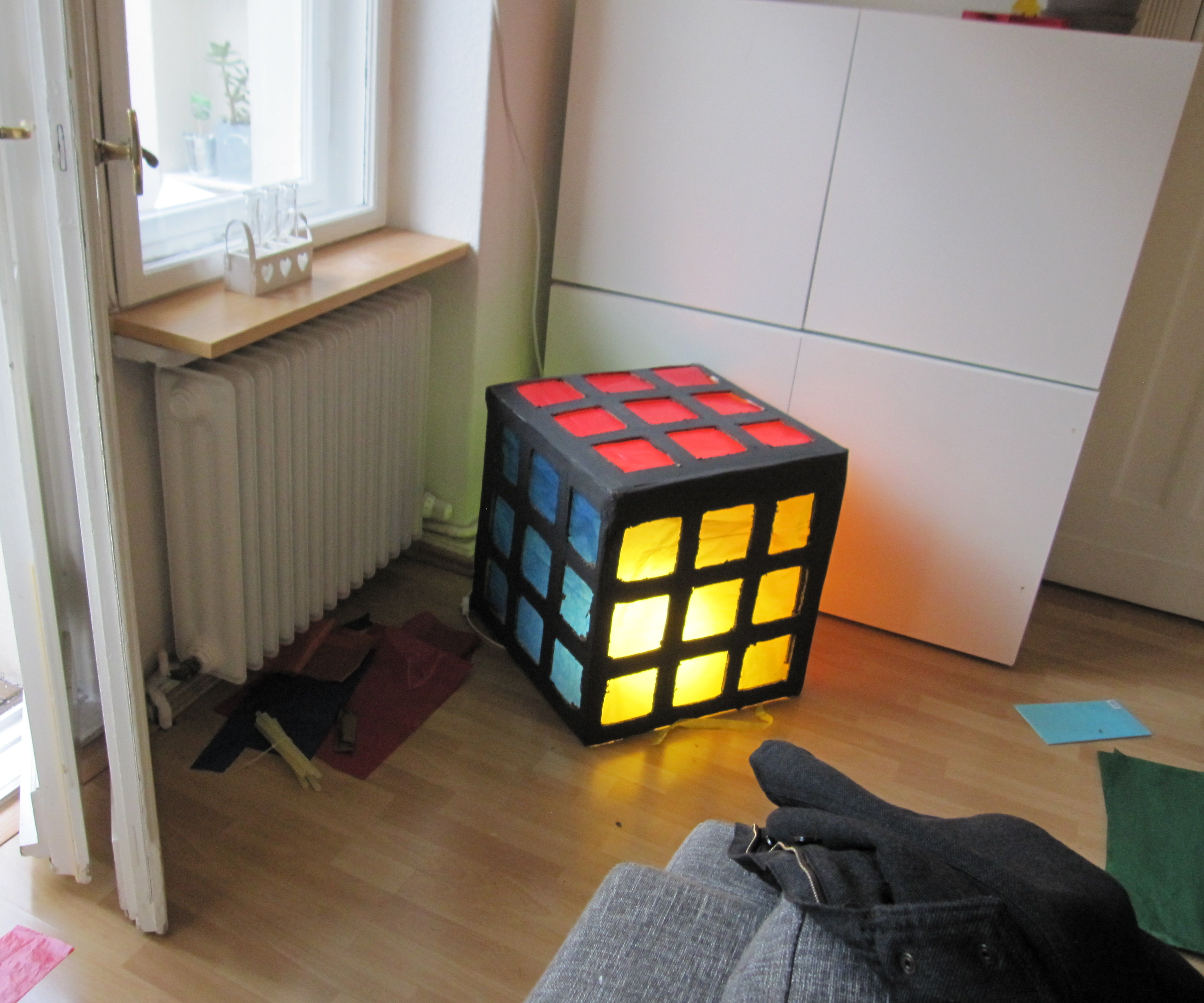 Rubiks Cube lamp shade