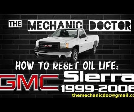 How to Reset Oil Life: GMC Sierra 1999-2006