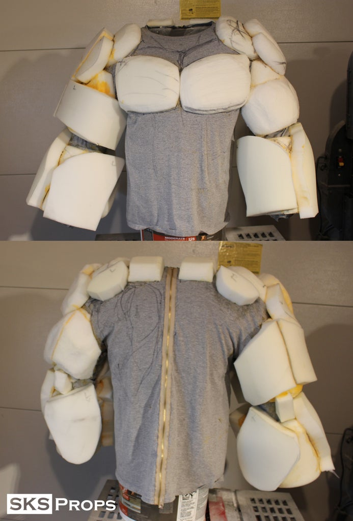 Building the Muscles Using Upholstery Foam