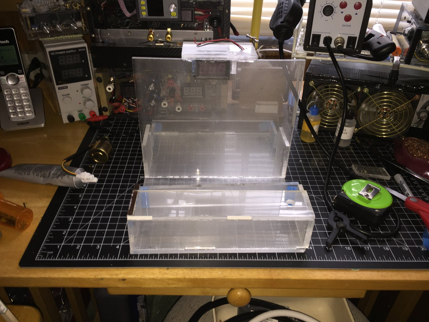Frame Assembly Using Old Computer LCD Plexiglas.