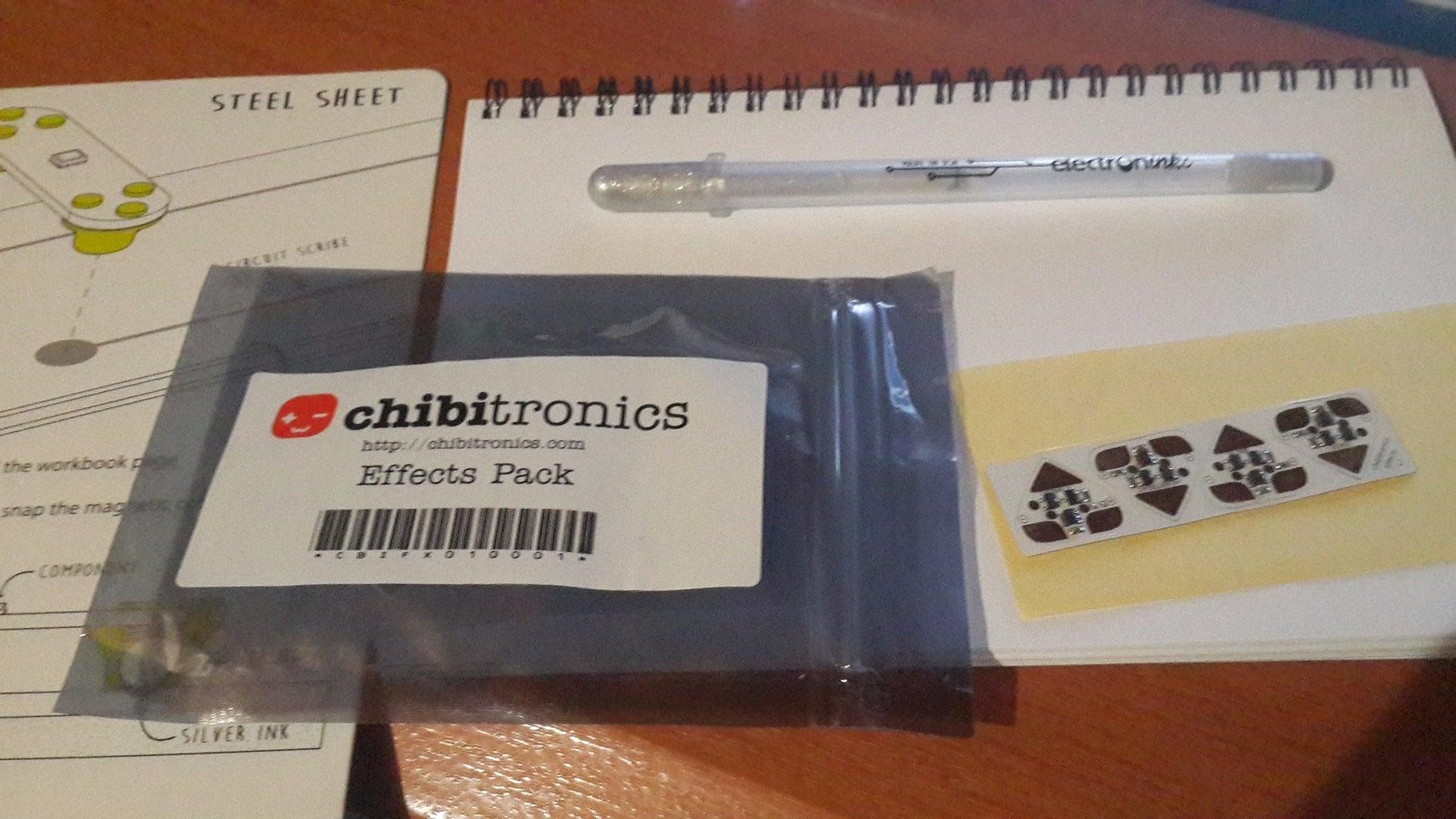 Chibitronics Powered Fade Effect on Circuit Scribe
