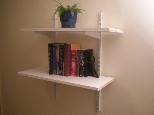 Installing Bookshelves on the Cheap