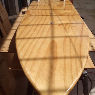 Hollow Wooden Kitesurfboard