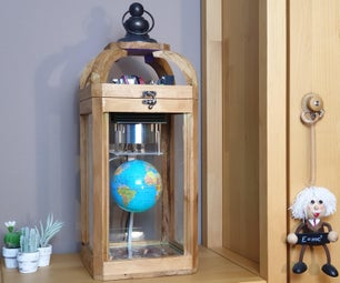 Floating and Spinning Earth Globe