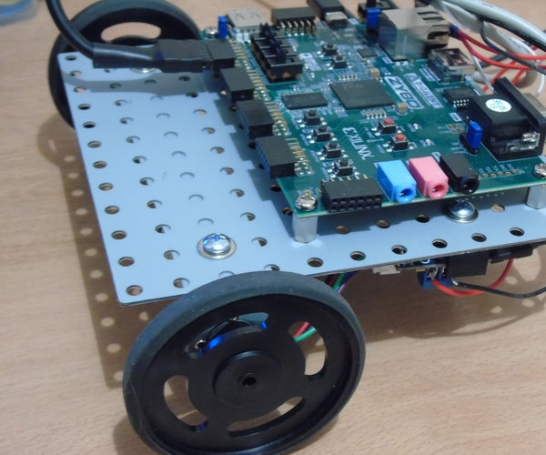 Follow a Route Marked With Two White Lines (Zybo-Zynq 7000 ARM/FPGA)