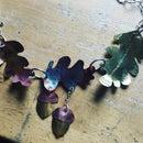 Oakleaf Necklace for a Woodland Wedding