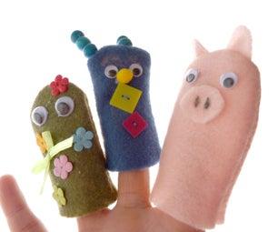 Making Wacky Finger Puppets
