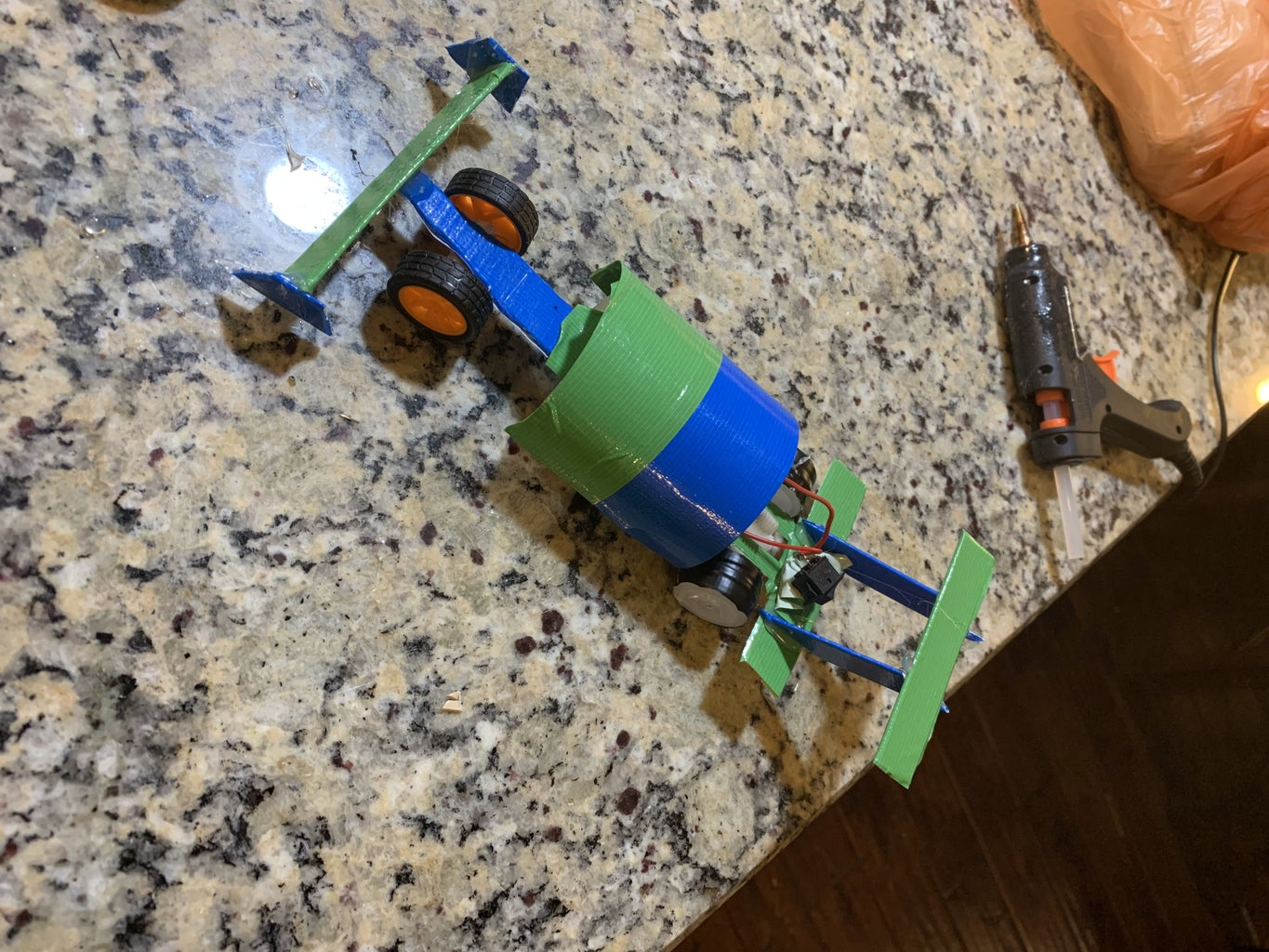 Moving Race Car Using Duct Tape and Popsicle Sticks