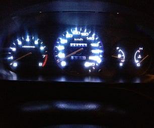Honda Civic Speedometer Light Upgrade