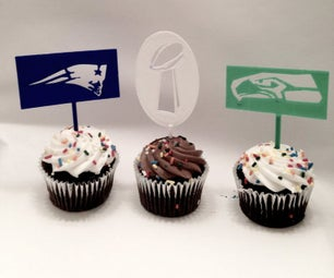 Super Bowl XLIX Cake Toppers