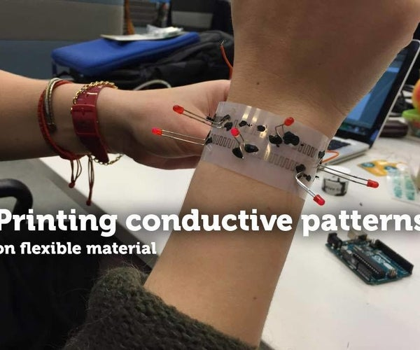 Printing Conductive Patterns on Flexible Material TfCD