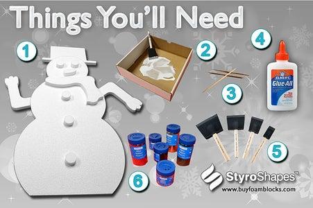 Glitter Snowman-DIY Styrofoam