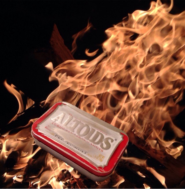 Altoids Survival Fire Starting Tin