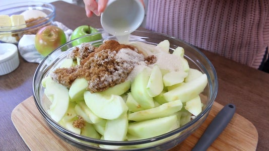 Add Ingredients to Apple Slices