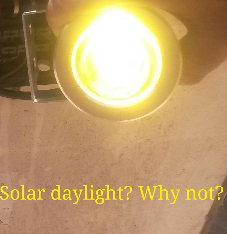 Daylight solar, why not?