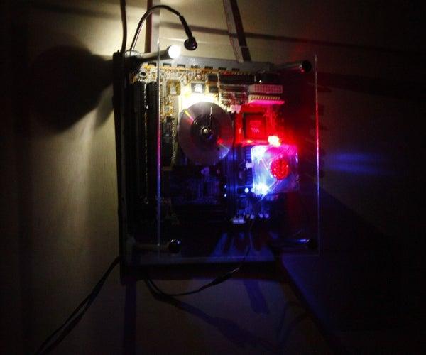 Motherboard Clock - Cum - Night Dim Arc Light !