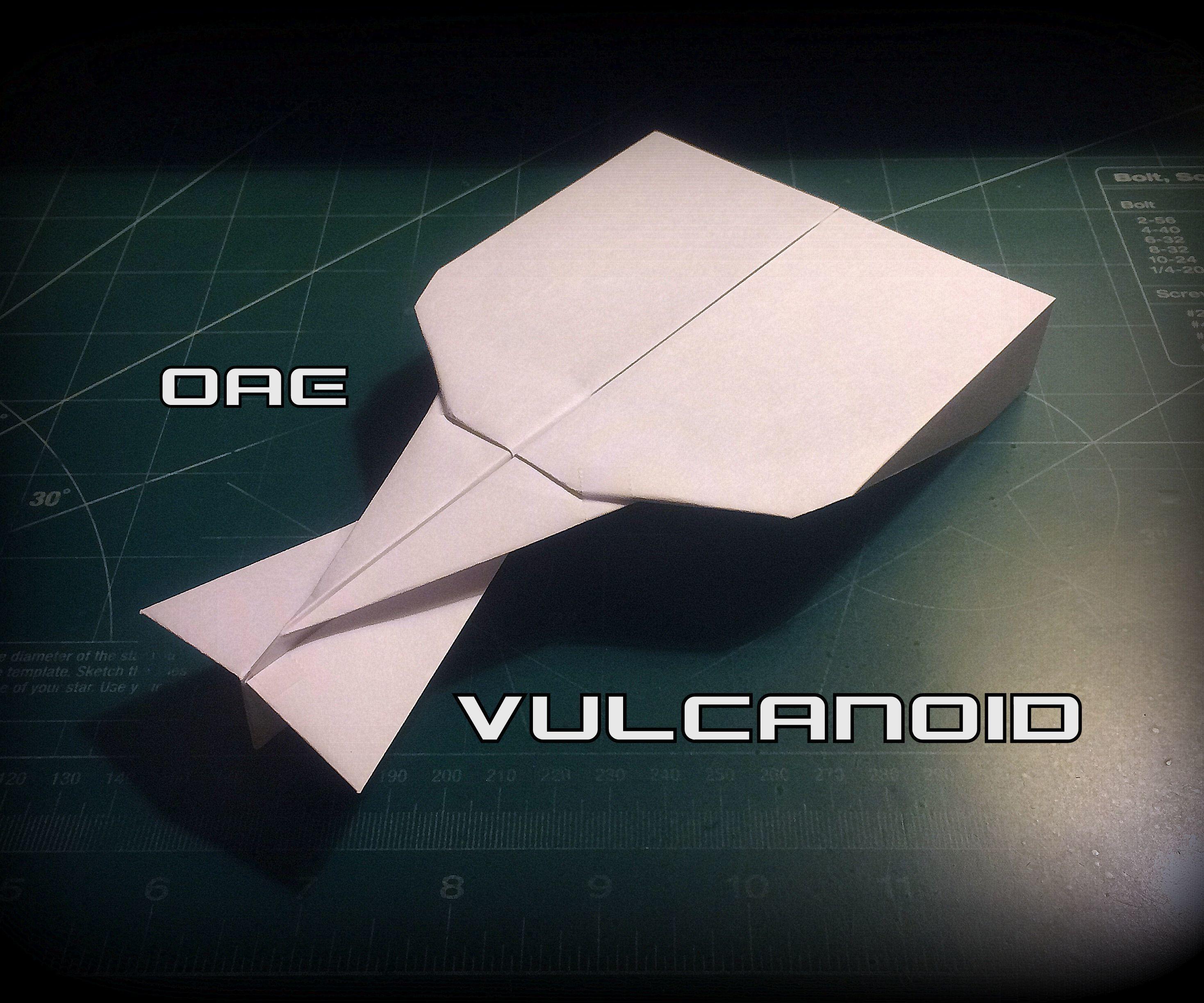 How To Make The Vulcanoid Paper Airplane