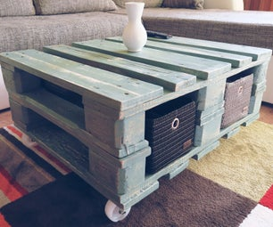 Vintage Style Coffee Table From Pallet - VIDEO