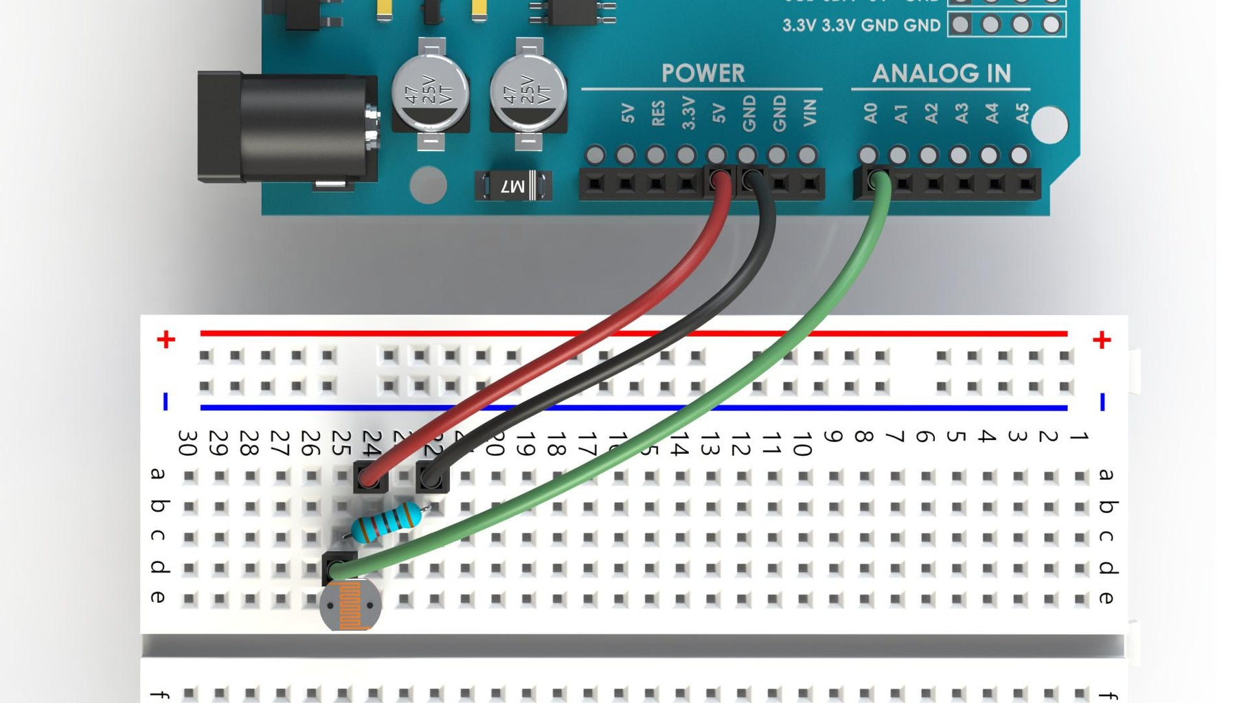Wiring an LDR With Arduino