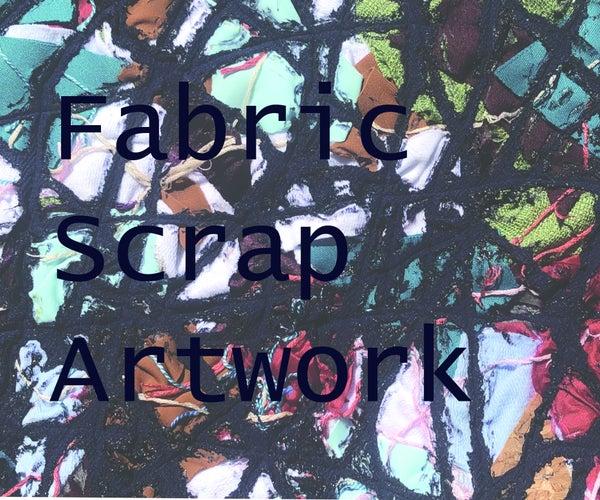 Fabric Scrap Abstract Artwork