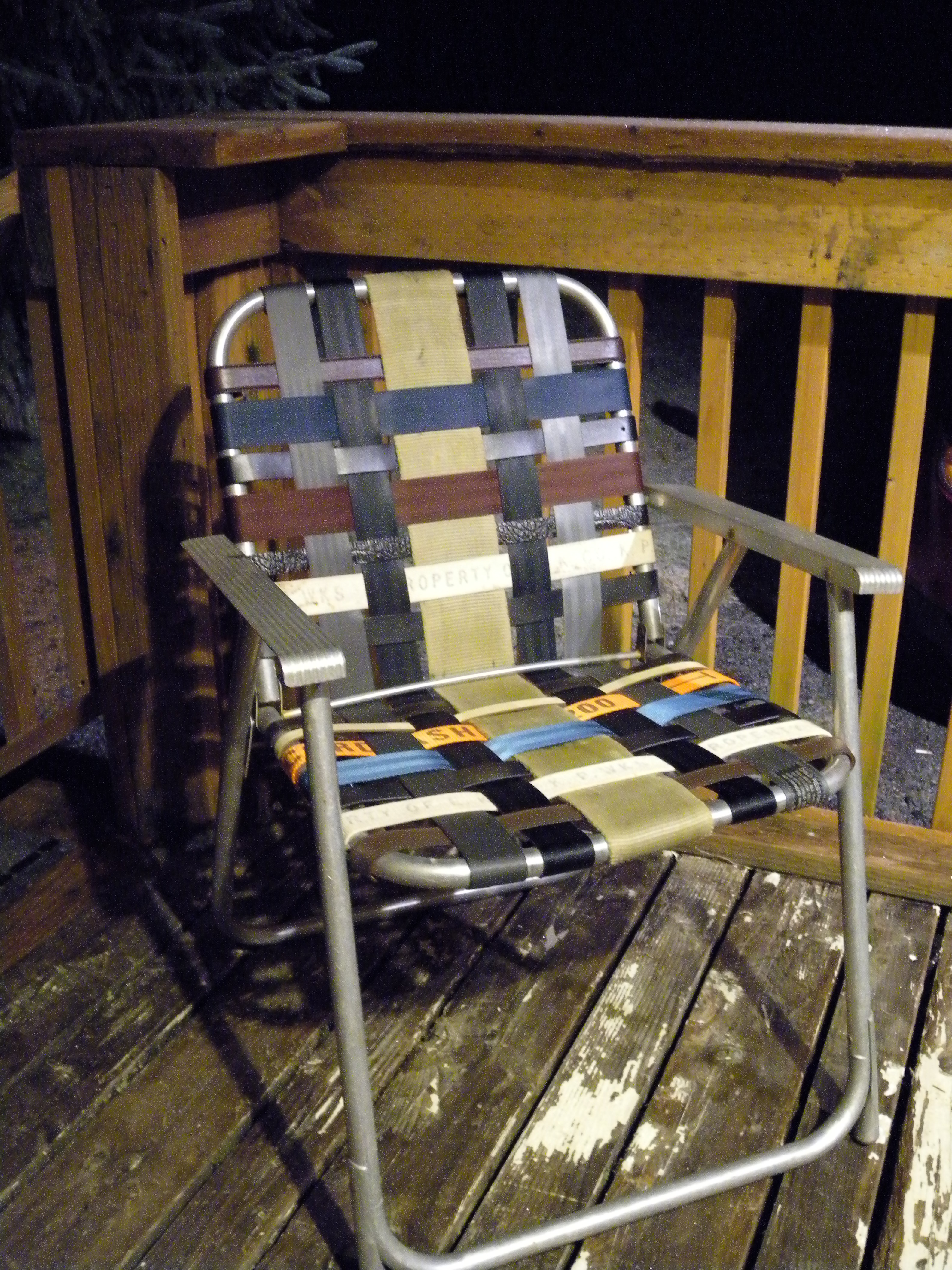 Refurbished Folding Lawn Chair With Repurposed Materials 10 Steps With Pictures Instructables