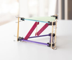 Popsicle Stick Tensegrity Table STEAM Activity - Easy to Assemble!