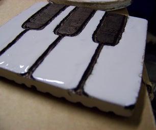 Piano Key Coasters