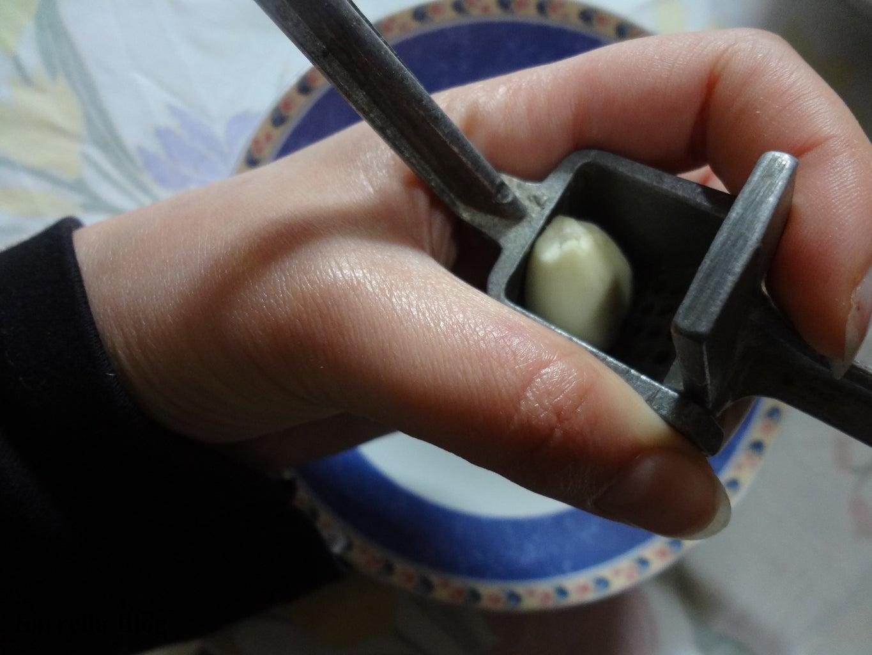Mashing the Garlic