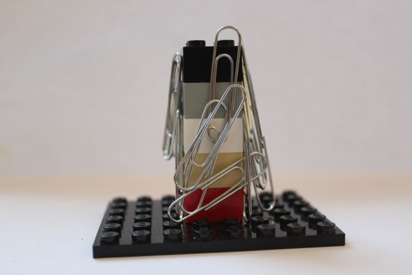 Expandable Lego Paperclip Holder