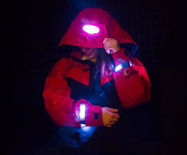 Mountain Safety Jacket: Movement Sensitive LED Jacket