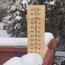 Rustic Snow Depth Gauge