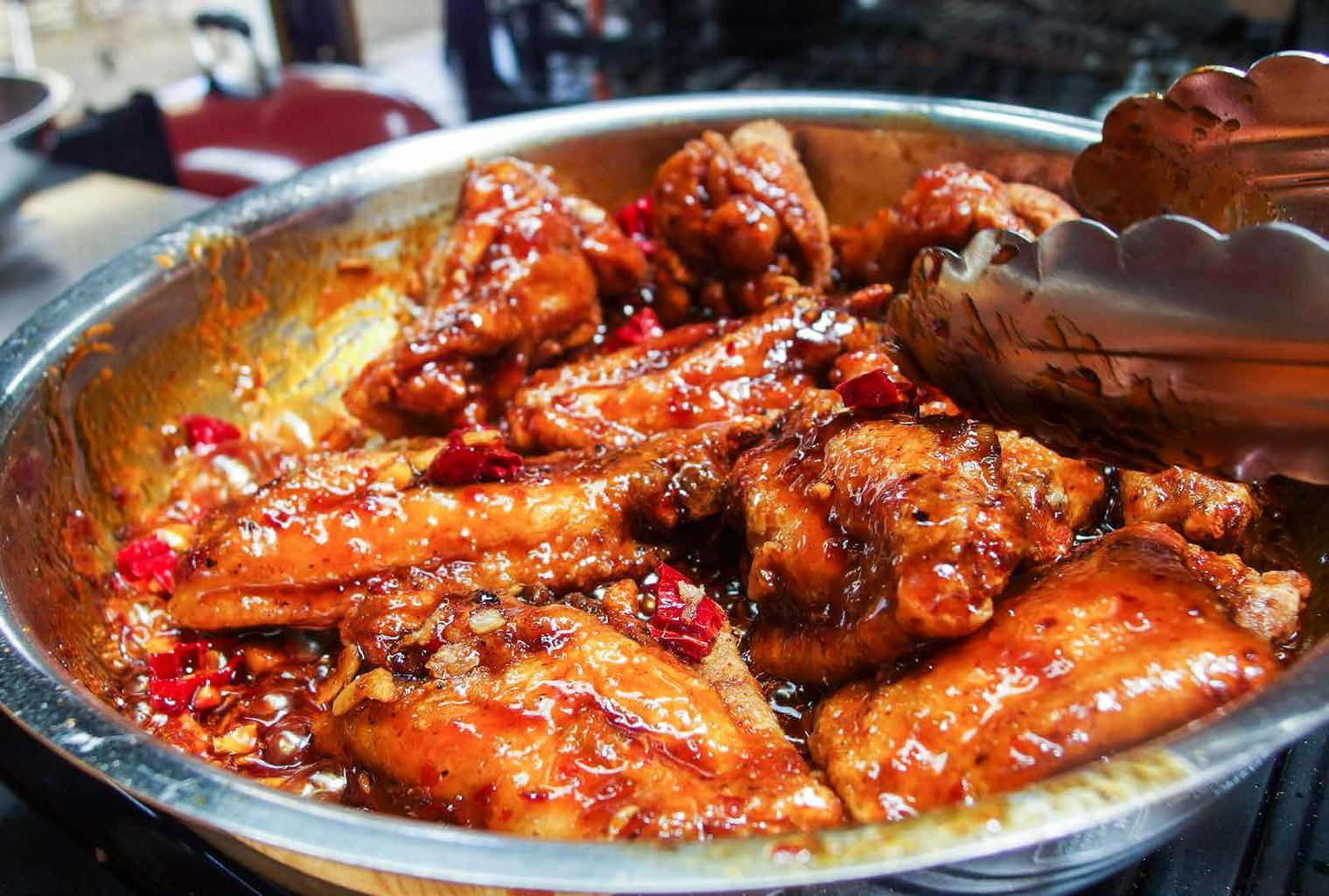 Dress the Chicken With the Glaze and Serve
