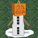 Minecraft Snow Golem Ornament