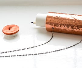 DIY Clay & Copper Container NECKLACE | Keep a Pen & Paper in Your Pendant!