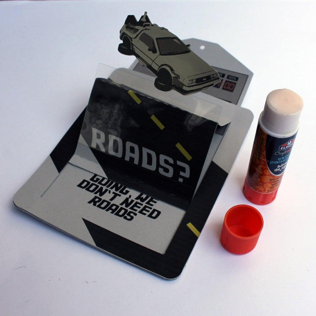 Adding the DeLorean and Back Pieces